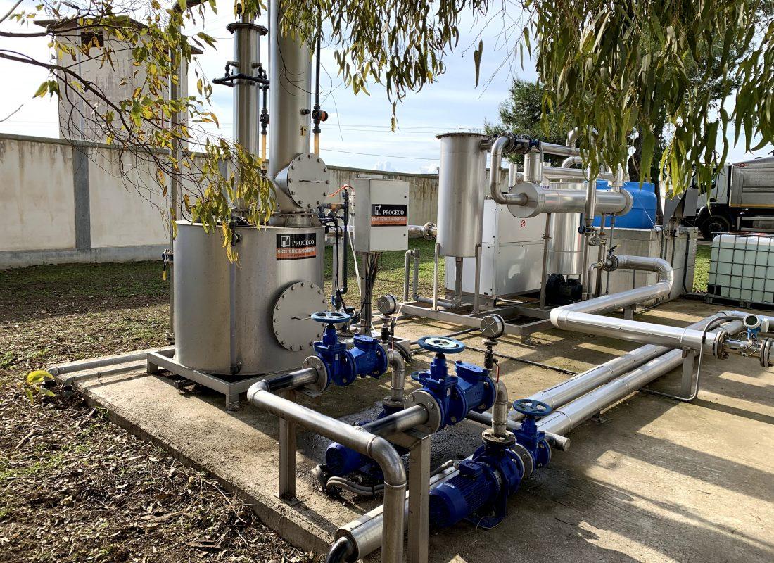 Cogeneratore di Lecce per la produzione di energia elettrica dai fanghi di depurazione