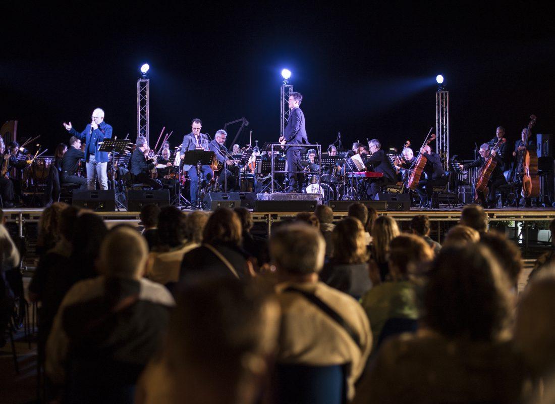 Concerto dell'Orchestra Sinfonica Metropolitana di Bari nel depuratore di Polignano a Mare