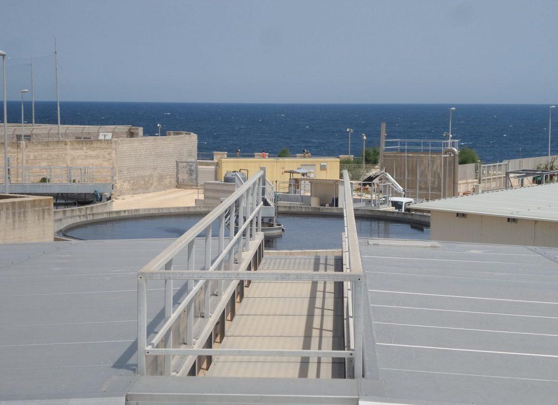 Scorcio dell'impianto di depurazione di Polignano a Mare